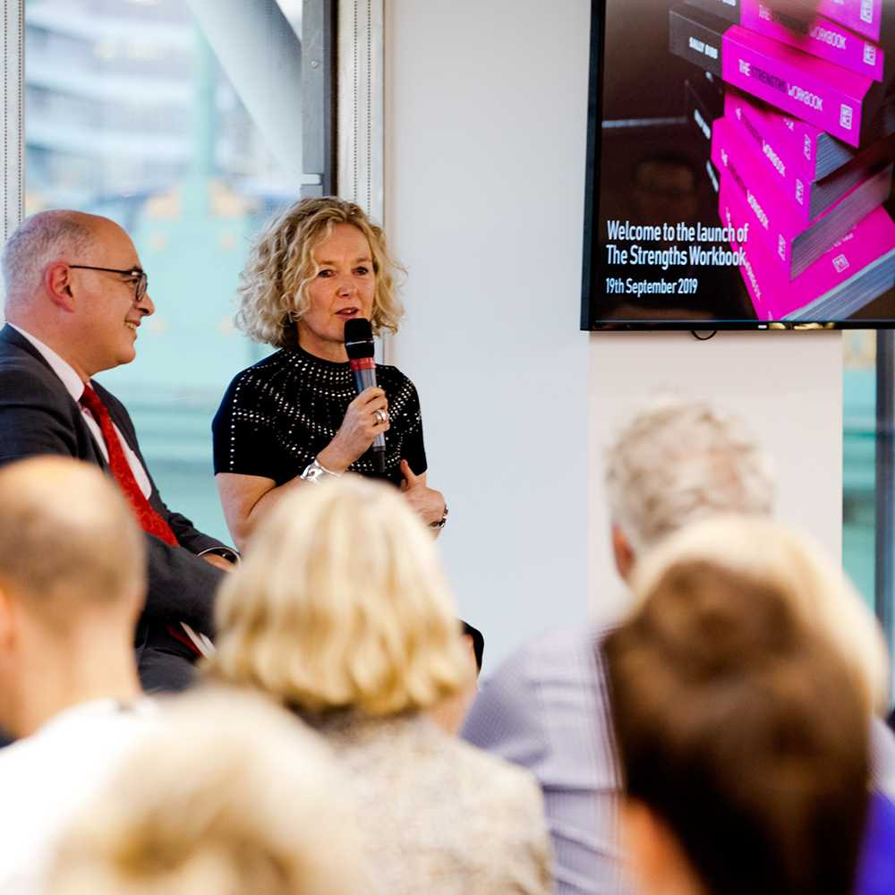 sally bibb the strengths workbook book launch image london 4